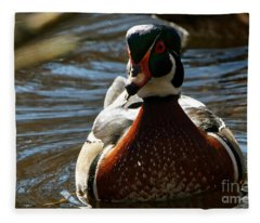 Wood Duck Paddle Fleece Blanket
