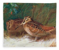 Woodcock Paintings Fleece Blankets