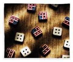 Wooden Button America Fleece Blanket