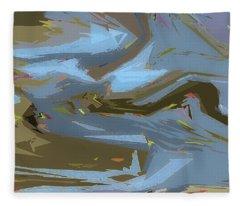 Woodland Stream Fleece Blanket