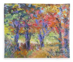 Woodland Walk Fleece Blanket