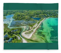 Woodneck Beach At 400 Feet Fleece Blanket