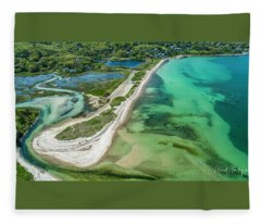 Woodneck Beach Fleece Blanket