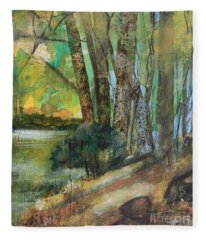 Woods In The Afternoon Fleece Blanket