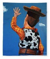 Woody Of Toy Story Fleece Blanket