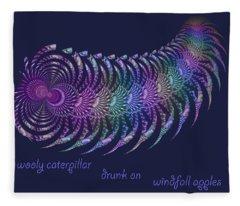 Wooly Caterpillar Haiga Fleece Blanket
