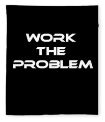 Work The Problem The Martian Tee Fleece Blanket