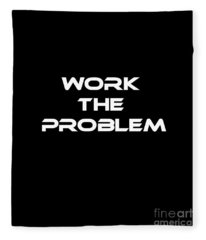 Work The Problem The Martian Tee Fleece Blanket