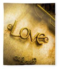 Words And Letters Of Love Fleece Blanket