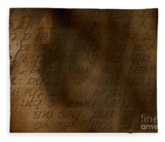 Words Winding Fleece Blanket