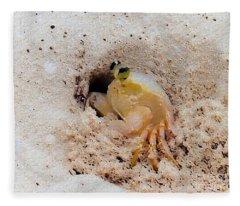 Working Crab Fleece Blanket