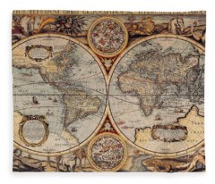 World Map 1636 Fleece Blanket