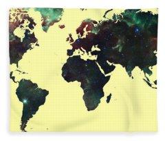 World Map 2 Fleece Blanket