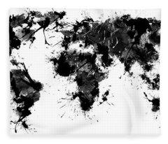 World Maps 11 Fleece Blanket