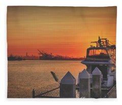 World On Fire Fleece Blanket