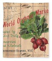 World Organic Market Fleece Blanket