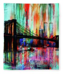 World Trade Center 01 Fleece Blanket