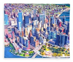 World Trade Center Manhatten New York 20170925 Long Fleece Blanket
