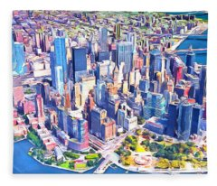 World Trade Center Manhatten New York 20170925 Fleece Blanket