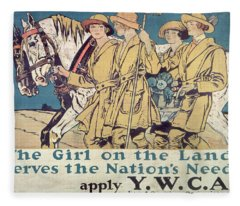 World War I Ywca Poster  Fleece Blanket