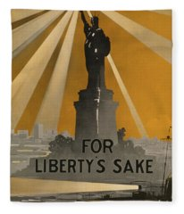 World War One Recruiting Poster With The Statue Of Liberty Fleece Blanket