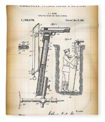 World War One Trench Warfare Pistol 1916 Fleece Blanket