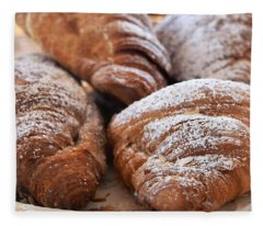 World's Best Croissants Fleece Blanket