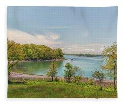 Worlds End Hingham Massachusetts Fleece Blanket