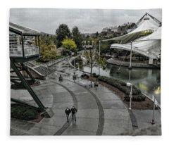 Worlds Fair Park Rain Fleece Blanket