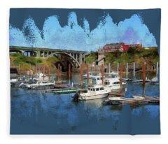 Worlds Smallest Harbor Fleece Blanket