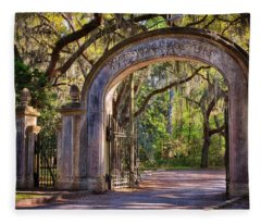 Wormsloe Plantation Gate Fleece Blanket