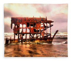 Wreck Of The Peter Iredale  Fleece Blanket