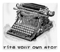 Write Your Own Story T-shirt Fleece Blanket