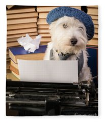 Writer's Block Fleece Blanket