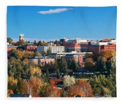 Wsu Autumn Panorama Fleece Blanket