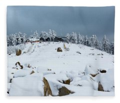 Wurmberg, Harz Mountains Fleece Blanket