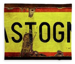 Wwii Bastogne Town Sign Fleece Blanket