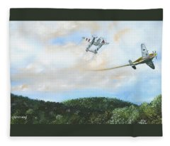 Wwii Dogfight Fleece Blanket