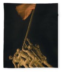 Iwo Jima Remembrance Fleece Blanket