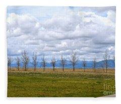 Wyoming-dwyer Junction Fleece Blanket