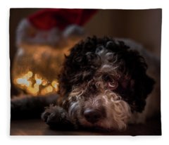 Lagotto Romagnolo - Xmas Is Gone And He Is Missing It Fleece Blanket