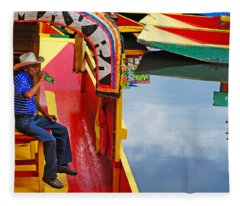 Fleece Blanket featuring the photograph Xochimilco by Skip Hunt