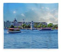 Yacht And Beach Club Walt Disney World Fleece Blanket