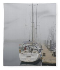 Yacht Doesn't Go In The Fog Fleece Blanket