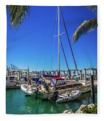 Miami Beach Marina 4501 Fleece Blanket