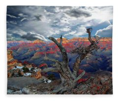 Yaki Point Grand Canyon Fleece Blanket
