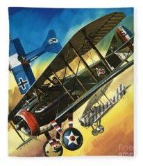Yankee Super Ace Edward Rickenbacker Fleece Blanket