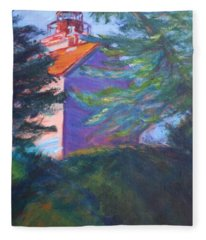 Yaquina Bay Lighthouse  Fleece Blanket