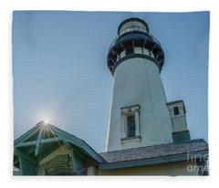 Yaquina Lighthouse Fleece Blanket