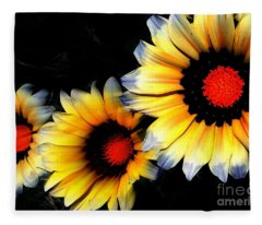 Yard Flowers Fleece Blanket